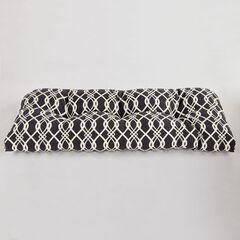 Tufted Wicker Settee Cushion, HEDDA FRESCO