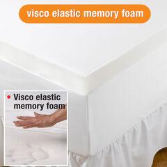 """4"""" Thick Visco Elastic Memory Foam Mattress Topper, NATURAL"""