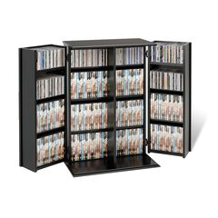 Locking Media Storage Cabinet,