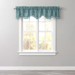 Bh Studio Sheer Voile Layered Valance