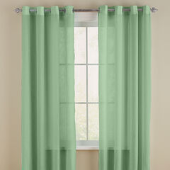 Crushed Voile Grommet Curtain,