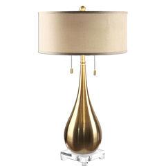 Lagrima Brushed Brass Lamp,