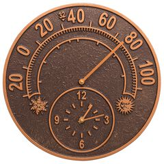 14' Solstice Clock And Thermometer,
