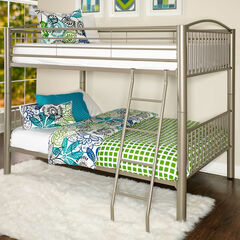 "Heavy Metal ""Pewter"" Full Over Full Bunk Bed,"
