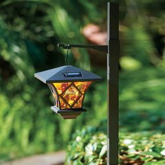 3-In-1 Tiffany Style Solar Street Lamp,