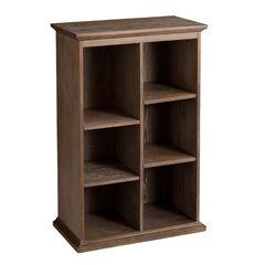 Farmhouse-Styled Six-Shelf Bookcase,
