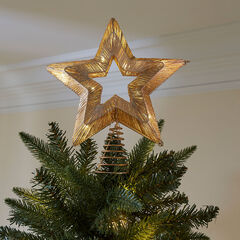 Pre-Lit Star Tree Topper,
