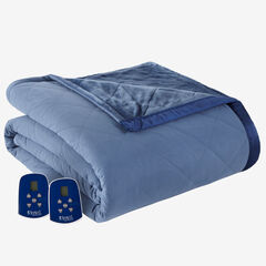 Micro Flannel® Reverse to Ultra Velvet® Electric Blanket,