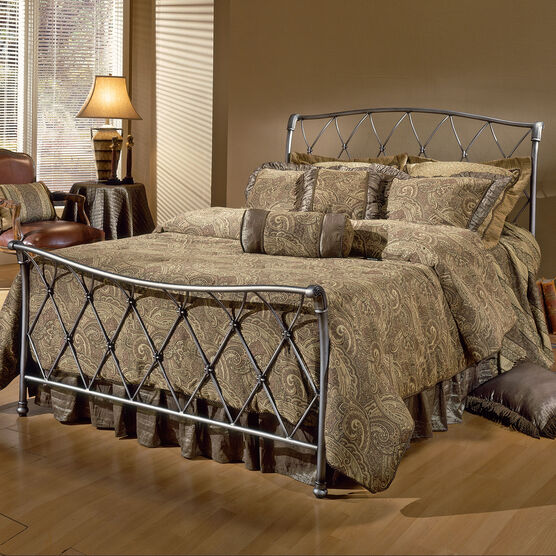 Full Bed with Bed Frame, 76'Lx55½'Wx48½'H, BRONZE PEWTER