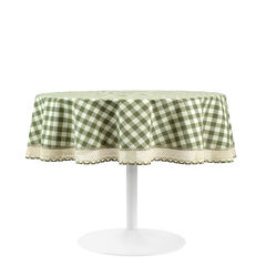 Buffalo Check Round Tablecloth - 70-in,