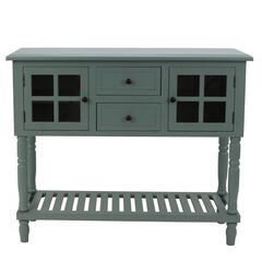 Antique Iced Blue Buffet Condole ,