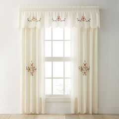 Ava Embroidered Panel Set with Tiebacks,