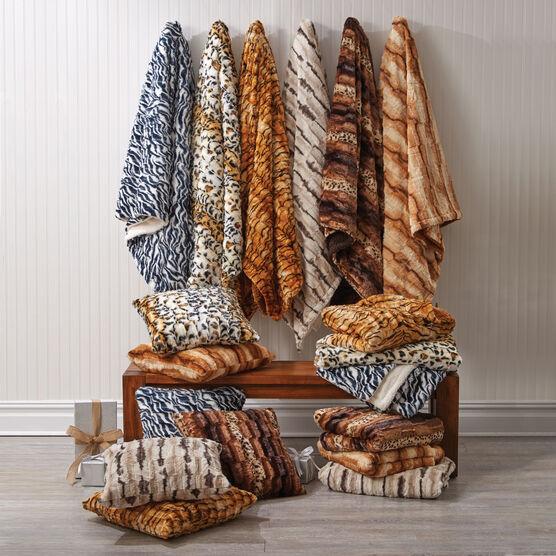 Faux Fur Animal Print Blanket,