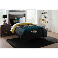 TWIN COMFORTER SET DRAFT-JAGUARS,