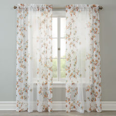 Bella Voile Printed Rod-Pocket Panel,