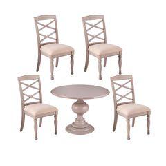Brandsmere Traditional 5pc Dining Set,