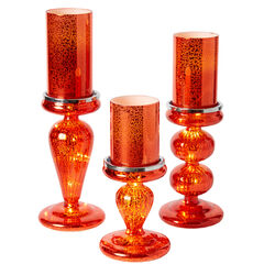 Set of 3 Candle Bases with LED Lights,