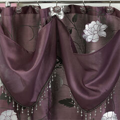 "Shower Curtain with Attached Valance, 72""x70"","