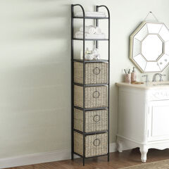Tall Storage Unit with Baskets,
