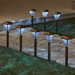 Bronze Solar Lights, Set of 8,