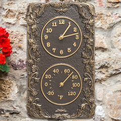 Acanthus Combo Clock And Thermomte,