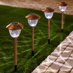 Bronze Solar Lights, Set of 4,