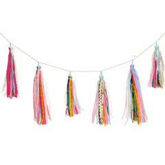 Ribbon Tassel Garland, MULTI