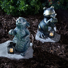 Animal Statue with Lantern,