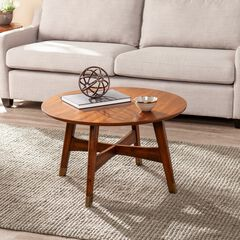 Rhoda Round Midcentury Modern Coffee Table,