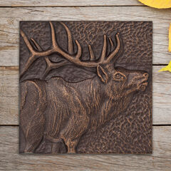 "Elk 8"" x 8"" Indoor Outdoor Wall Décor,"