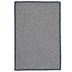 Houndstooth Twist Navy Rug,