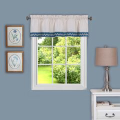 "Camden 58"" x 14"" Window Curtain Valance, BLUE"