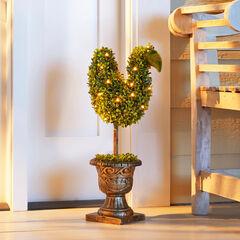 Pre-Lit Swan Topiary,