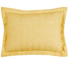 Natick Collection Tufted Chenille Standard Sham , YELLOW