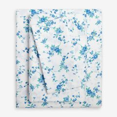 2-Pack Microfiber Sheet Set, BLUE FLORAL