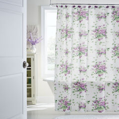 Violet Flower 13-Pc. Shower Curtain Set,