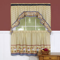 Cucina Printed Tier and Swag Window Curtain Set,