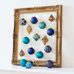 16-Pc. Blue & Gold Ornament Set,
