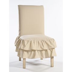 2-Tier Ruffled Dining Chair Slipcover by Classic Slip Covers, Inc.,