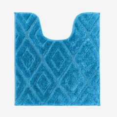 Diamond Contour Bath Rug, BLUE