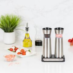 Kalorik Rechargeable Gravity Salt and Pepper Grinder Set,