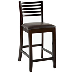 "Triena Collection Ladder Counter Stool, 24""H, ESPRESSO"