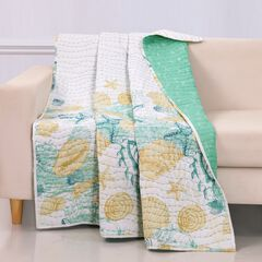 Barefoot Bungalow Grand Bahama Quilted Throw Blanket,