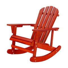 Solid Wood Adirondack Rocking Chair,