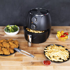 Kalorik 3 Quart Mechanical Air Fryer, Matte Black,