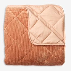 BH Studio Cloud Ribbed Velvet Quilt, BLUSH