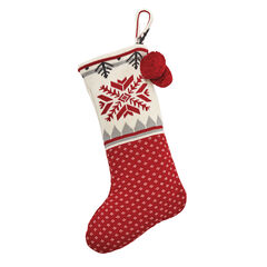 Snowflake Knit Christmas Stocking,