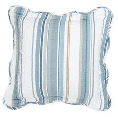 "Florence 16"" Square Pillow, BLUE STRIPE"