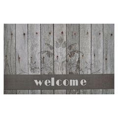 "Welcome Outdoor Rubber Entrance Mat 18"" x 30"","
