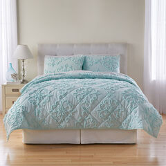 3-Pc. Chenille Quilt Set,